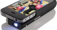 Pocket Projector for iPhone 4®  Let's You View Your Cathe Downloads Anywhere